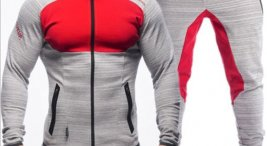 d7c584fd5cc090 Fitness Sports Zipper Running Casual Fashion Tracksuit