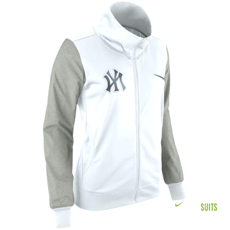 new product e79b3 c1291 New York Yankees Nike Women's Full-Zip Jacket - White ...